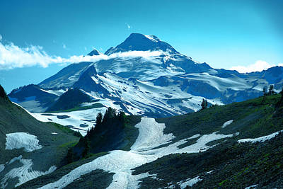 Mount Baker From The Chain Lakes Trail Poster by Jeff Swan
