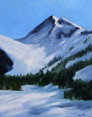 Poster featuring the painting Mount Baker Glacier by Nancy Merkle