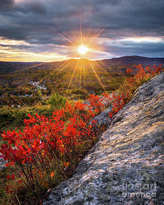 Mount Battie Sunset Poster