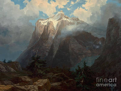 Mount Brewer From King River Canyon California Poster by MotionAge Designs