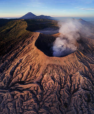 Poster featuring the photograph Mount Bromo At Sunrise by Pradeep Raja Prints