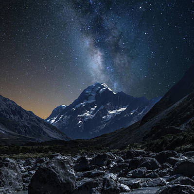 Mount Cook At Night Poster