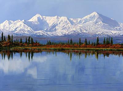 mount Denali in Alaska Poster by Guido Borelli