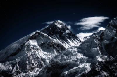 Mount Everest In Moonlight Poster by Yuka Ogava