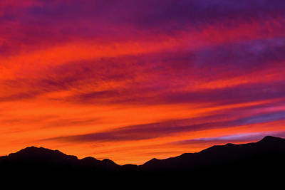 Mount Franklin Purple Sunset Poster