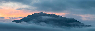 Mount Franklin Stormy Winter Sunset Pano Poster