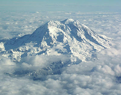 Mount Hood From Above Poster