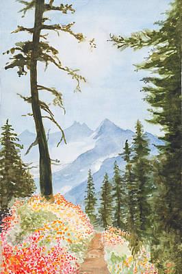 Mount Jefferson Poster by Jean Moule