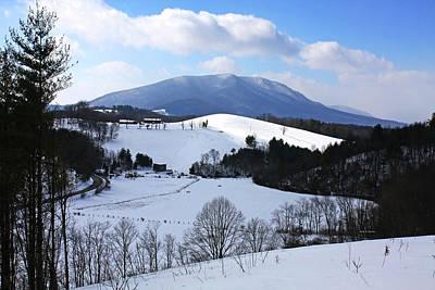 Mount Jefferson Winter Poster