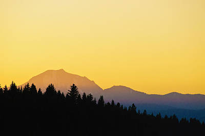 Poster featuring the photograph Mount Lassen At Sunset by Sherri Meyer