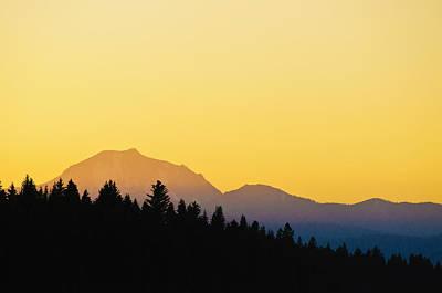 Mount Lassen At Sunset Poster
