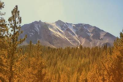 Mount Lassen In Autumn Poster