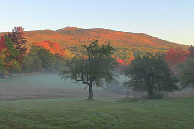 Mount Monadnock Autumn Morning Poster by John Burk