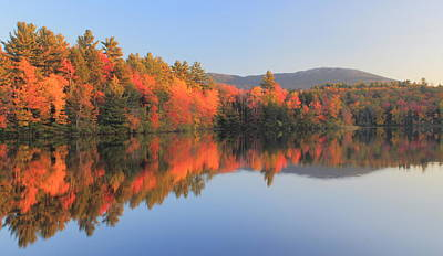 Mount Monadnock Early Autumn Reflections Poster by John Burk