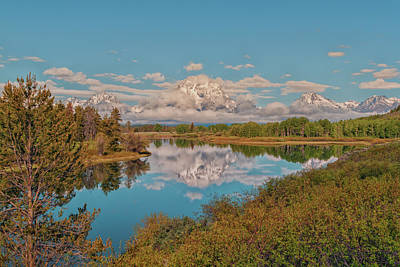 Mount Moran On Oxbow Bend Poster by Brian Harig
