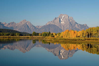 Poster featuring the photograph Mount Moran by Steve Stuller