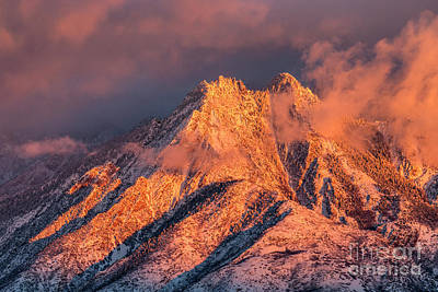 Poster featuring the photograph Mount Olympus Winter Sunset by Spencer Baugh