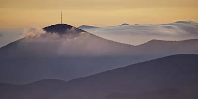 Mount Pisgah In Morning Light - Blue Ridge Mountains Poster by Rob Travis