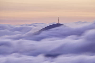 Mount Pisgah In The Clouds Poster