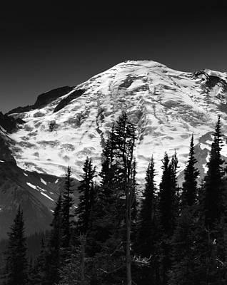 Mount Rainier Emmons And Winthrop Glaciers Washington  Poster