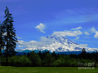 Mount Rainier In The Distance Poster
