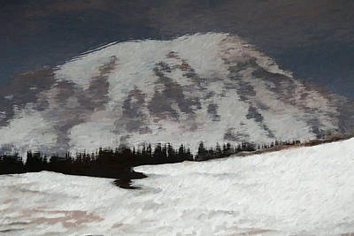 Mount Rainier Reflection In Spring Poster