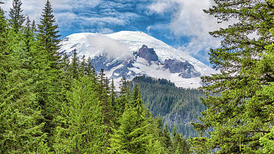 Poster featuring the photograph Mount Rainier View by Stephen Stookey