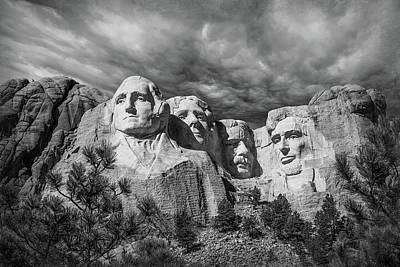 Mount Rushmore II Poster by Tom Mc Nemar