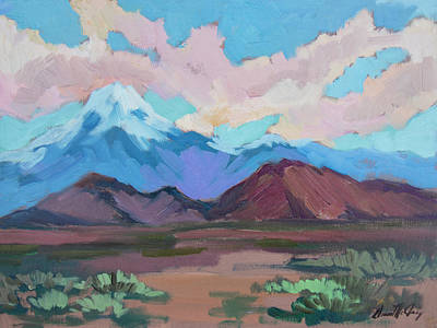 Poster featuring the painting Mount San Gorgonio by Diane McClary