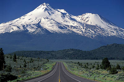 Mount Shasta Poster by Christian Heeb