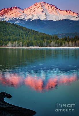 Mount Shasta Sunset Poster by Inge Johnsson
