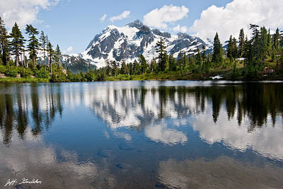 Mount Shuksan Reflected In Picture Lake Poster by Jeff Goulden