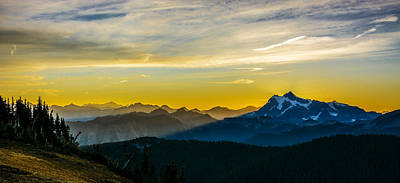 Mount Shuksan Sunrise 2 Poster by Pelo Blanco Photo