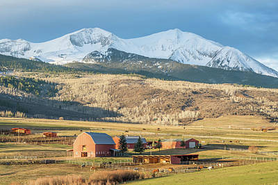 Mount Sopris Sunrise Poster by Eric Glaser
