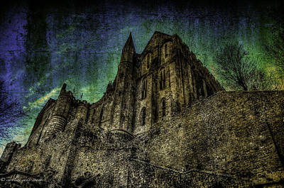 Poster featuring the photograph Mount St Michael Unreal by Karo Evans