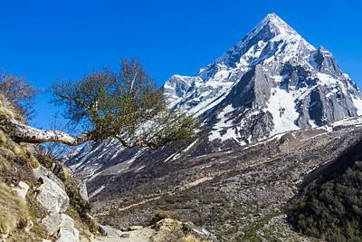 Mount Sudarshan - Indian Himalayas Poster by Nila Newsom