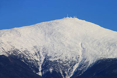 Mount Washington Summit And Weather Observatory Poster by John Burk