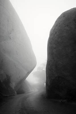 Mount Woodson Foggy Rocks Poster by William Dunigan