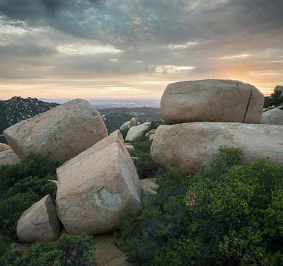 Mount Woodson Sunset Clouds Poster by William Dunigan