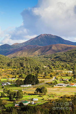 Mount Zeehan Valley Town. West Tasmania Australia Poster by Jorgo Photography - Wall Art Gallery