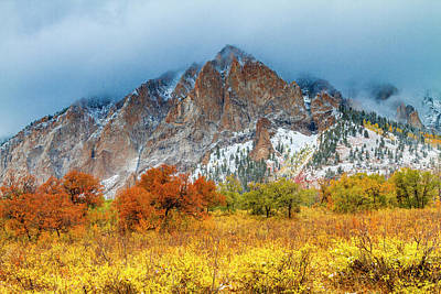Mountain Autumn Color Poster by Teri Virbickis