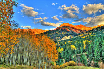 Mountain Beauty Of Fall Poster by Scott Mahon