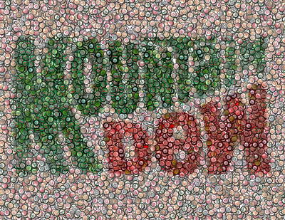 Mountain Dew Bottle Cap Mosaic Poster by Paul Van Scott