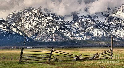 Mountain Fence Poster by Adam Jewell