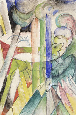 Mountain Goat Poster by Franz Marc