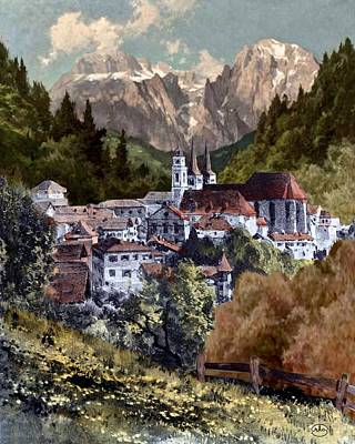 Autumn In The Alps Poster by Ron Chambers