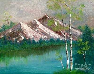 Poster featuring the painting Mountain Lake by Denise Tomasura