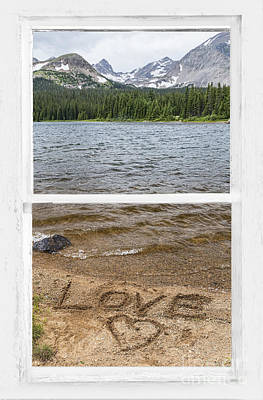 Mountain Lake Window Of Love Poster by James BO  Insogna