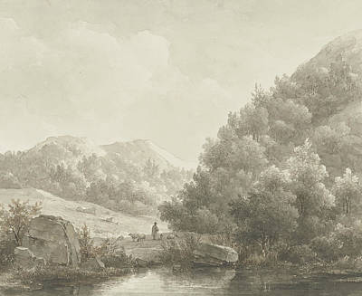 Mountain Landscape Poster by Andreas Schelfhout