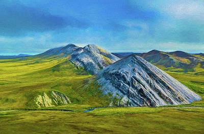Mountain Landscape Digital Art Poster